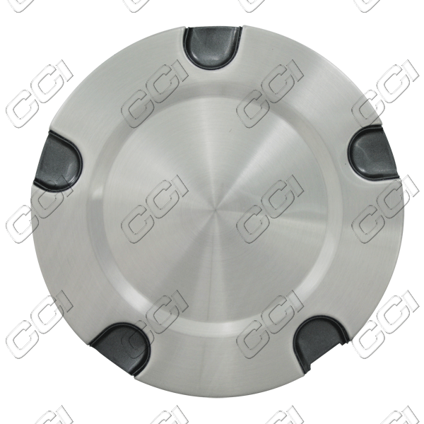 Chevrolet Trailblazer  2004-2009 , Brushed Aluminum Wheel Center Caps