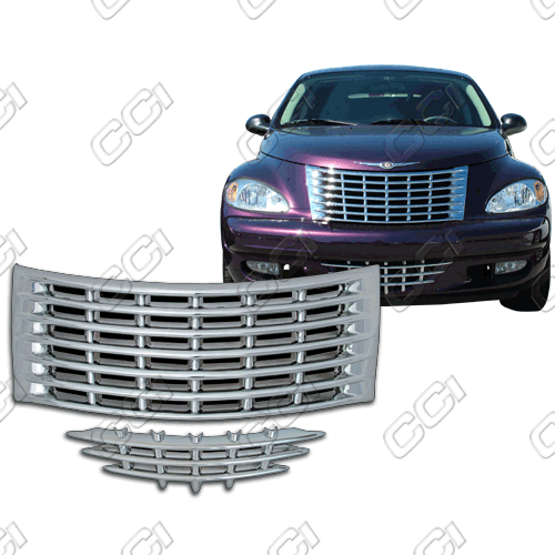 Chrysler PT Cruiser Base, Touring, Limited 2001-2005 Chrome Front Grille Overlay