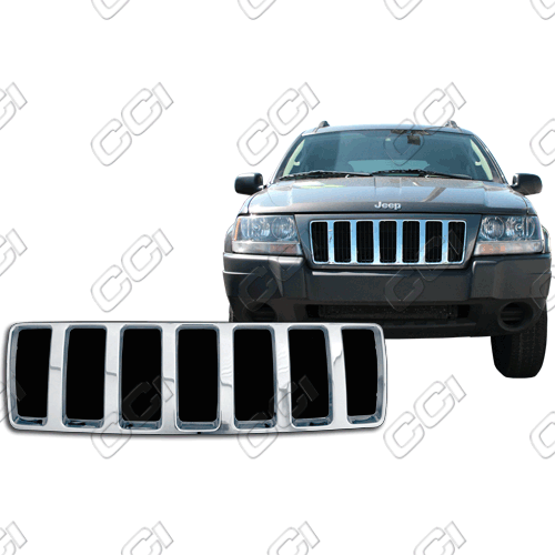 Jeep Grand Cherokee Laredo 2004-2004 Chrome Front Grille Overlay