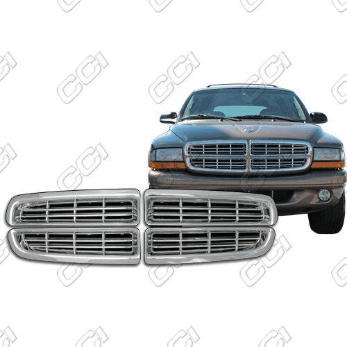 Dodge Dakota Base, Sport 1997-2003 Chrome Front Grille Overlay