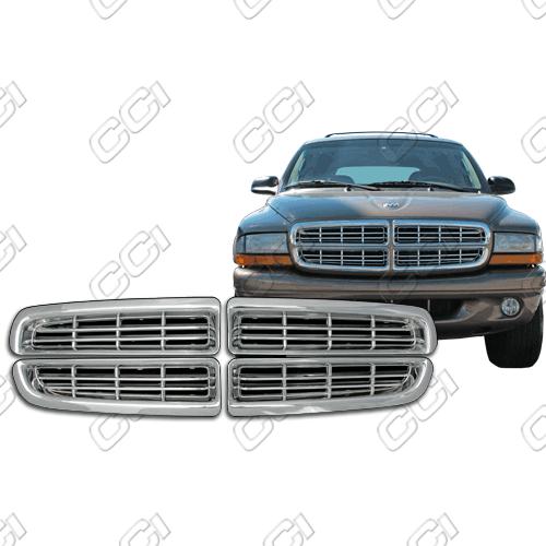 Dodge Durango Sport, Sxt, R/T 1998-2003 Chrome Front Grille Overlay