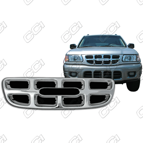 Isuzu Rodeo S, Ls, Lse 2000-2003 Chrome Front Grille Overlay