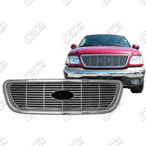 Ford F150 Super Crew, Lariat, Xlt 1999-2003 Chrome Front Grille Overlay
