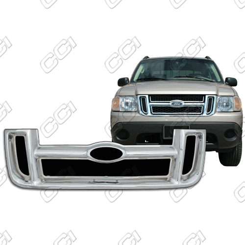 Ford Explorer Sport Trac Xls, Xlt 2001-2005 Chrome Front Grille Overlay