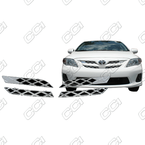 Toyota Corolla L, Le, S 2011-2013 Chrome Front Grille Overlay