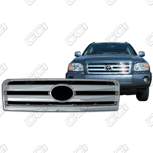 Toyota Highlander Base, Sport 2004-2007 Chrome Front Grille Overlay