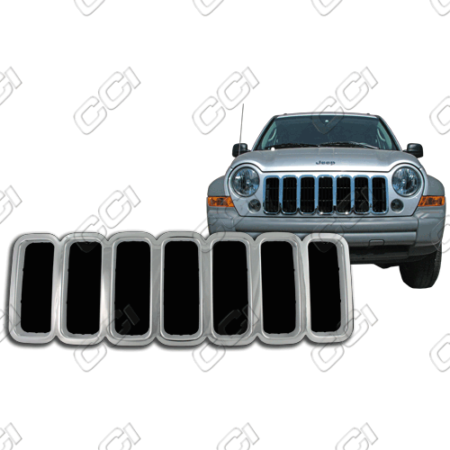 Jeep Liberty Sport, Limited 2005-2007 Chrome Front Grille Overlay