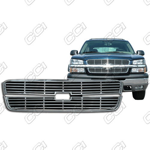 Chevrolet Silverado 1500 Ls, Lt 2003-2005 Chrome Front Grille Overlay