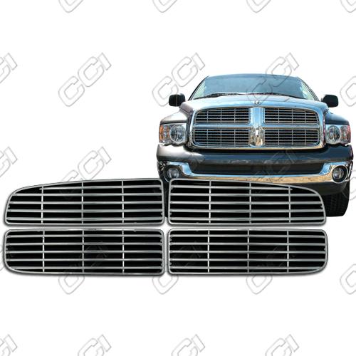 Dodge Ram St, Sxt, Slt 2002-2004 Chrome Front Grille Overlay