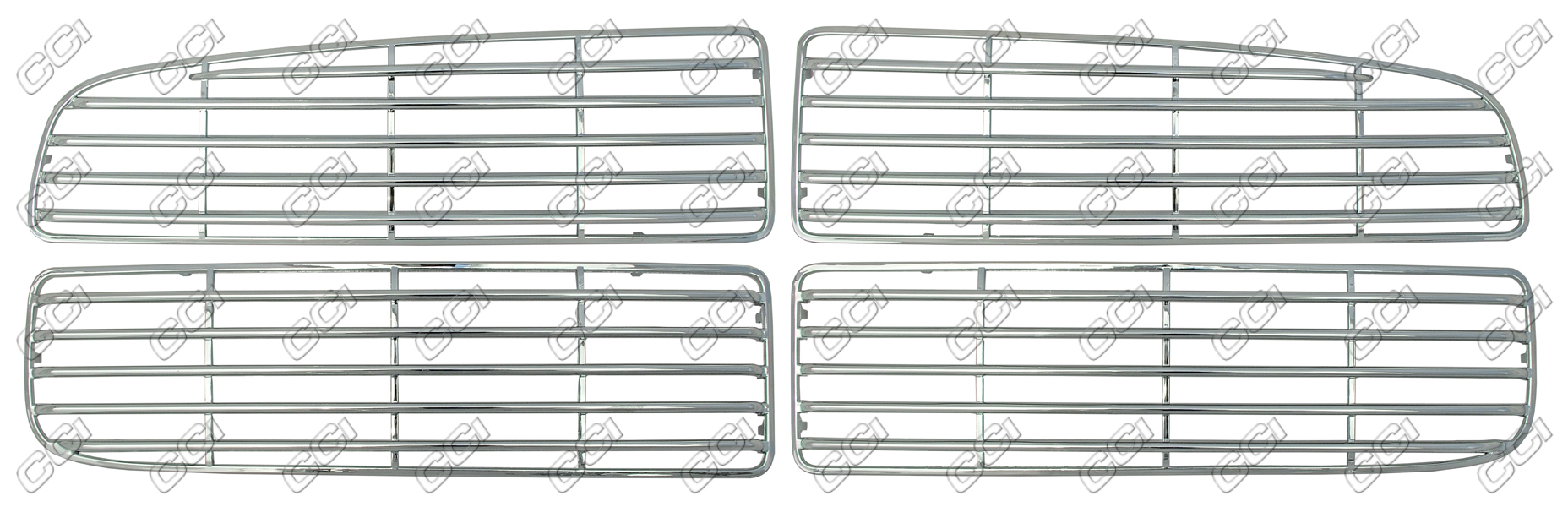 Dodge Ram  2002-2004 (4 Piece) Chrome Front Grille
