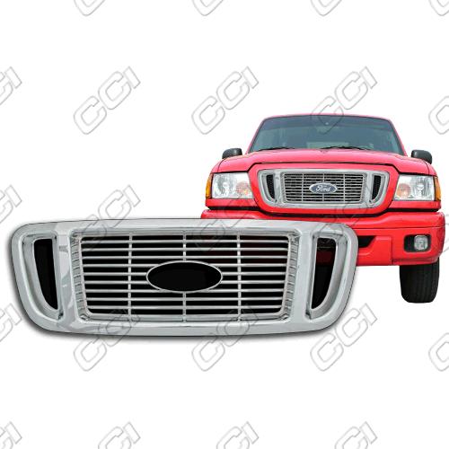 Ford Ranger Xlt, Edge 2004-2005 Chrome Front Grille Overlay