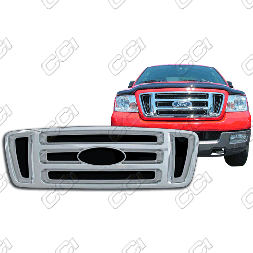 Ford F150 Xl, Stx, Fx4 2004-2008 Chrome Front Grille Overlay