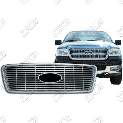 Ford F150 Xlt, Lariat 2004-2008 Chrome Front Grille Overlay