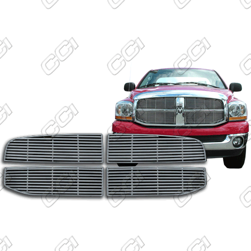 Dodge Ram St, Sxt, Slt 2005-2008 Chrome Front Grille Overlay