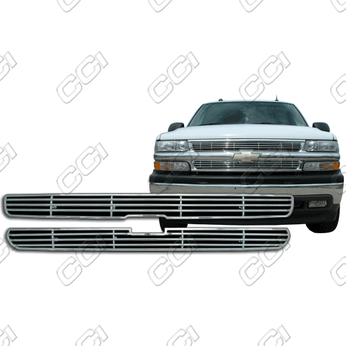 Chevrolet Tahoe Ls, Lt 2000-2006 Chrome Front Grille Overlay