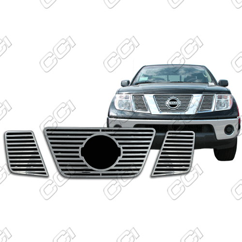Nissan Frontier  2005-2007 Chrome Front Grille Overlay