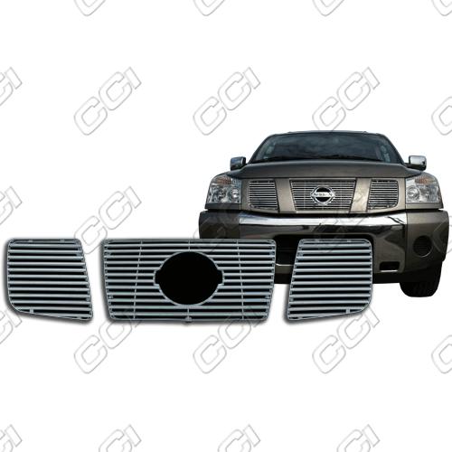Nissan Titan Se, Le 2004-2007 Chrome Front Grille Overlay