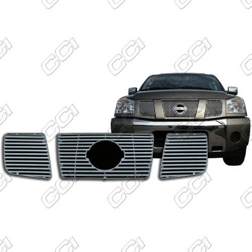 Nissan Armada Se, Le 2004-2007 Chrome Front Grille Overlay