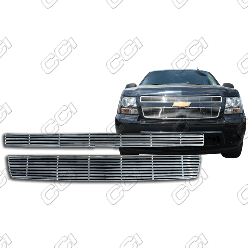 Chevrolet Suburban Ls, Lt 2007-2013 Chrome Front Grille Overlay Billet Look