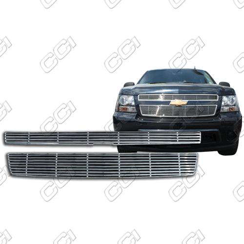 Chevrolet Tahoe Ls, Lt 2007-2013 Chrome Front Grille Overlay Billet Look