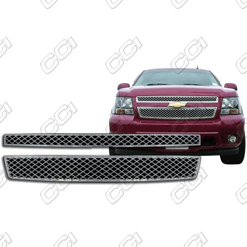 Chevrolet Suburban Ls, Lt 2007-2013 Chrome Front Grille Overlay