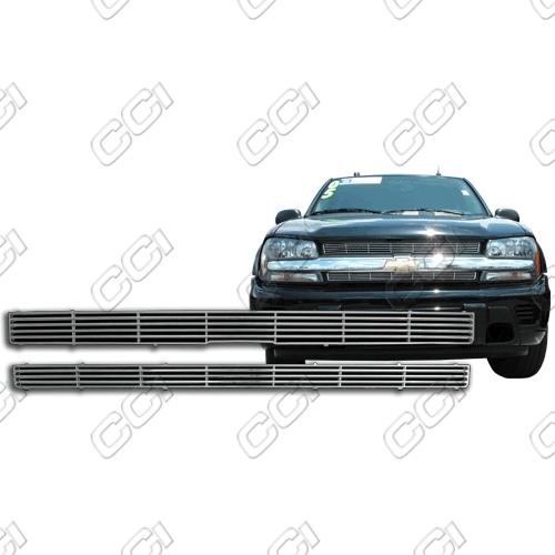 Chevrolet Trail Blazer Ls, Lt 2002-2005 Chrome Front Grille Overlay
