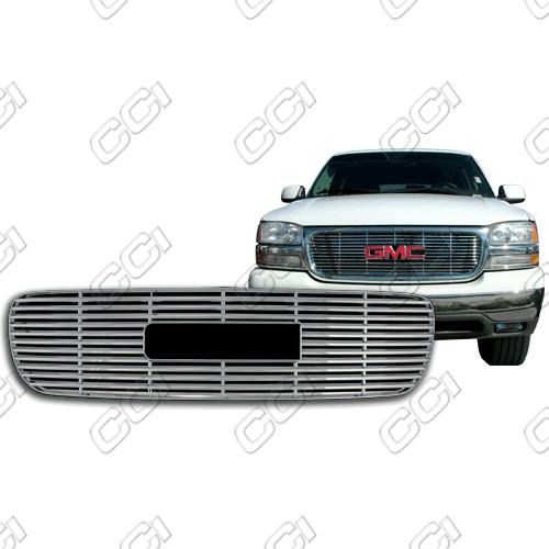 Gmc Sierra S, Sle, Slt 1999-2002 Chrome Front Grille Overlay