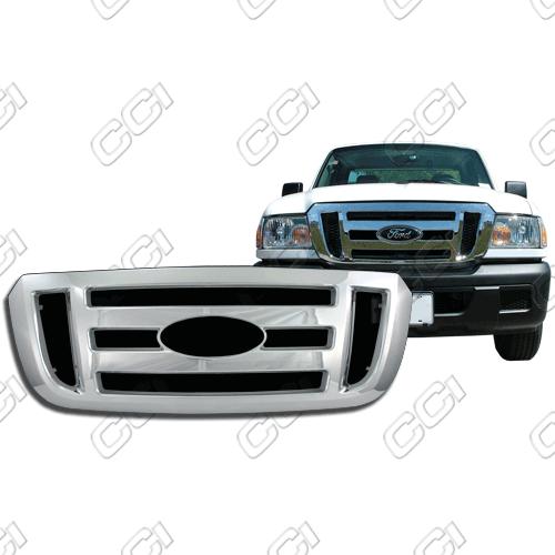 Ford Ranger Xl, Fx4 2006-2011 Chrome Front Grille Overlay