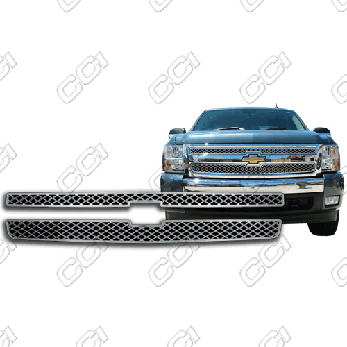 Chevrolet Silverado Lt, Ls 2007-2013 Chrome Front Grille Overlay