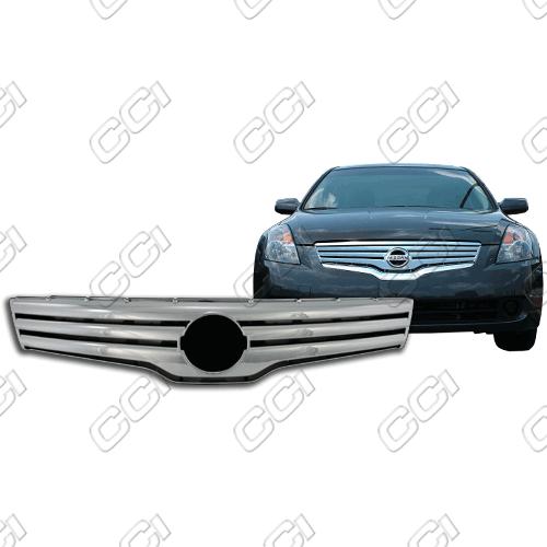 Nissan Altima 4dr S, Base, Sl, Se 2007-2009 Chrome Front Grille Overlay