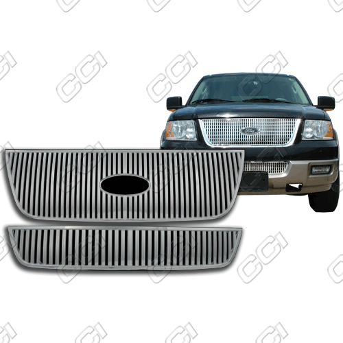 Ford Expedition Limited, Eddie Bauer, King Ranch 2003-2006 Chrome Front Grille Overlay