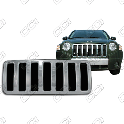 Jeep Compass  2007-2010 Chrome Front Grille Overlay