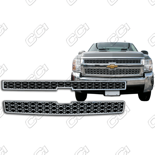 Chevrolet Silverado 2500/3500 2007-2010 Chrome Front Grille Overlay