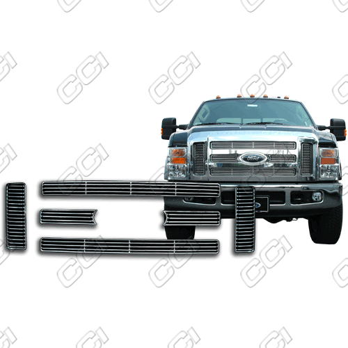 Ford Super Duty Xlt, Lariat 2008-2010 Chrome Front Grille Overlay