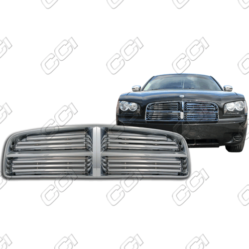 Dodge Charger Se 2006-2010 Chrome Front Grille Overlay