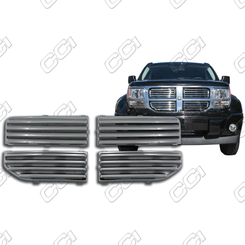Dodge Nitro Slt, Sxt 2007-2012 Chrome Front Grille Overlay
