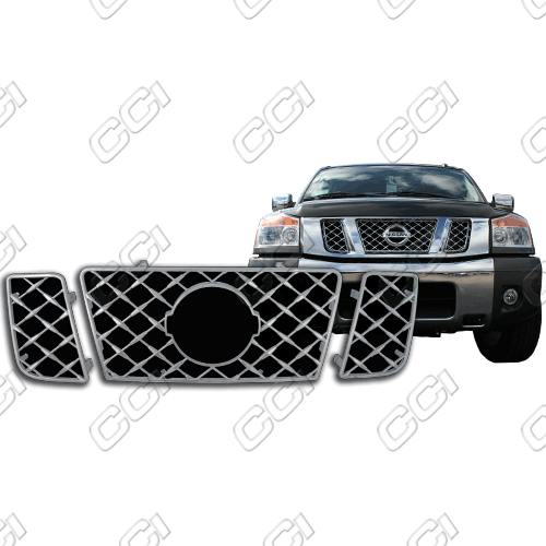 Nissan Titan Se, Le 2008-2013 Chrome Front Grille Overlay