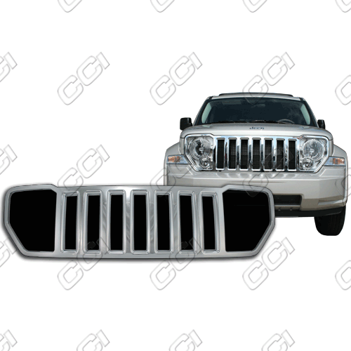 Jeep Liberty Sport 2008-2013 Chrome Front Grille Overlay