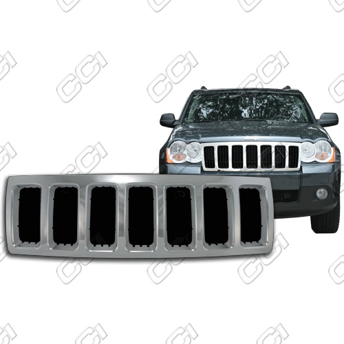Jeep Grand Cherokee Laredo, X Package 2008-2010 Chrome Front Grille Overlay