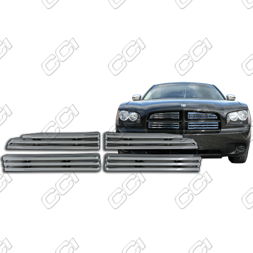 Dodge Charger Se, R/T, Sxt 2006-2010 Chrome Front Grille Overlay