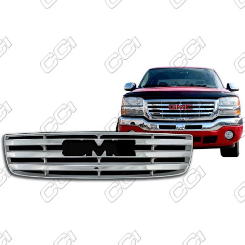 Gmc Sierra Standard, Sle. Slt 2003-2006 Chrome Front Grille Overlay