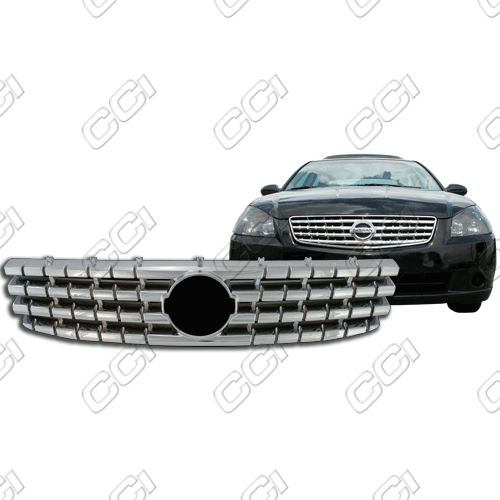 Nissan Altima 4 Door 2005-2006 Chrome Front Grille Overlay
