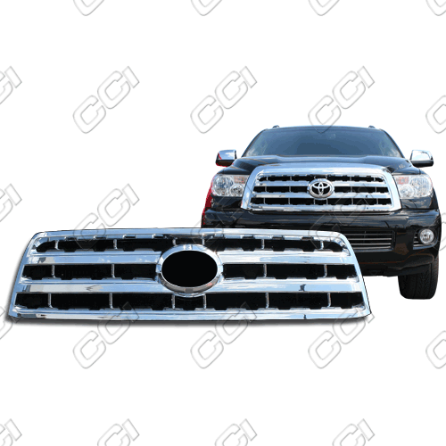 Toyota Sequoia Sr5, Limited, Platinum 2008-2013 Chrome Front Grille Overlay