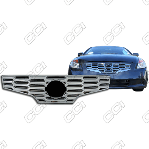 Nissan Altima 2 Door 2007-2009 Chrome Front Grille Overlay