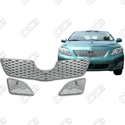 Toyota Corolla Base, Le, Xle 2009-2010 Chrome Front Grille Overlay