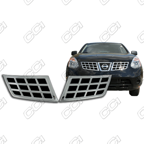 Nissan Rogue  2008-2013 Chrome Front Grille Overlay