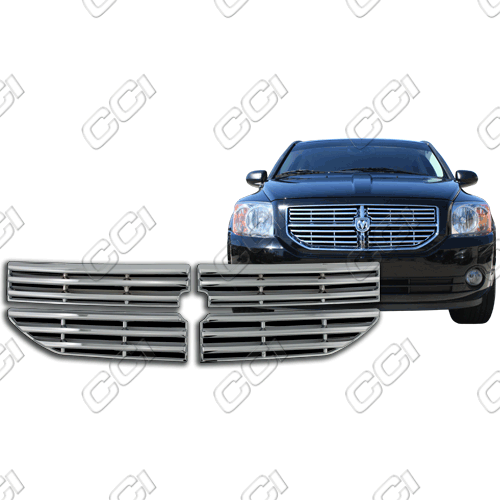 Dodge Caliber R/T, Sxt, Se 2007-2012 Chrome Front Grille Overlay