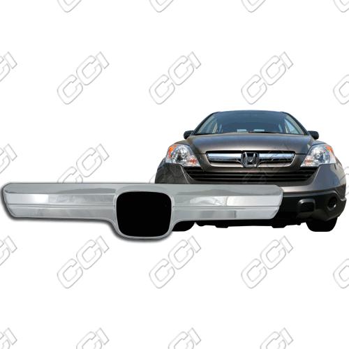 Honda Cr-V Lx 2007-2009 Chrome Front Grille Overlay