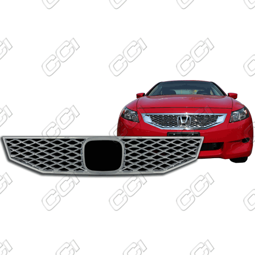 Honda Accord 2dr Ex, Ex-L, Lx-S 2008-2010 Chrome Front Grille Overlay