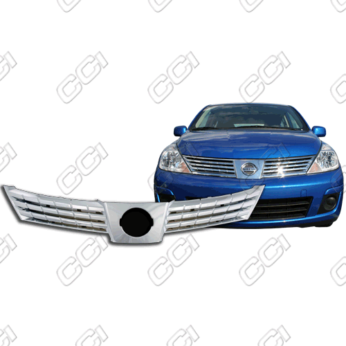Nissan Versa  2007-2009 Chrome Front Grille Overlay